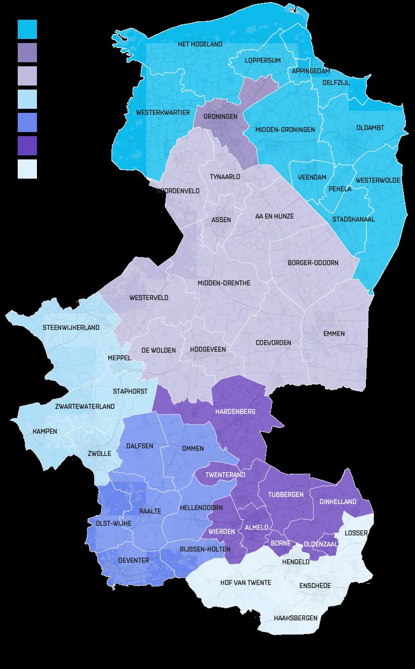 Clustergebieden GRONDG